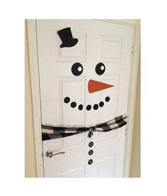 Snowman Door // Christmas Door Decal // Xmas by WallAffection