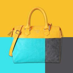 Picturing Colors jostling with each other is what has inspired us to create this color-blocked bag!