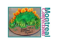 How to make Dinosaur cake - Complete video tutorial - Stegosaurus cake