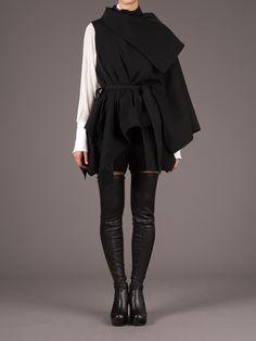 ann demeulemeester structured sleeveless regency jacket
