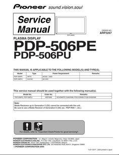 Pioneer Pdp 435pe инструкция - фото 4