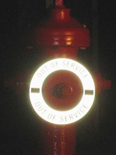 REFLECTIVE HYDRANT RINGS from LEM Products, Inc. are UV and weather resistant reflective plastic disks with printed legends. Materials are available in a variety of colors.   Out-of-Service Hydrant Ring Markers provide identification of fire hydrants determined to be out-of-service or requiring maintenance. Fire hydrant rings are also used to mark hydrants for insufficient water flow, potential for backflow into the water distribution system and unacceptably low pressure to area customers.