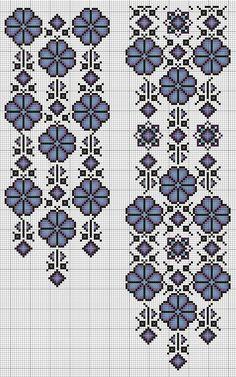 Cross Stitch Rose, Cross Stitch Borders, Cross Stitching, Cross Stitch Patterns, Hand Embroidery Design Patterns, Lace Knitting Patterns, Ribbon Embroidery, Cross Stitch Embroidery, Palestinian Embroidery