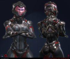 ArtStation - Sci-Fi Pilot, Tom Bramall