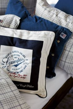 Cosy shams and bedding from Lexington Company.