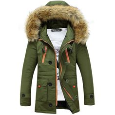 59.49$  Watch here - http://aliyv1.worldwells.pw/go.php?t=32440167629 - New Fashion Design Parka Men 2015 Winter Jacket Men Casual Mens Slim Fit Puffer Jacket Brand Big Fur Hooded Jacket Coat Male 3XL 59.49$