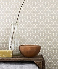 Shapes Hexagon Unglazed Biscuit 23x26mm Mosaic  £5.69 price/tile  £72.95 price/m2