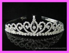 Wedding/Bridal crystal veil tiara crown headband CR075  ebay seller: romanticism2000