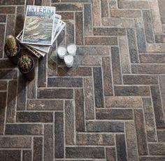 Brick by Rondine Bristol Dark Brick Look Tile, Brick Tiles, Brick Flooring, Floors, Wall And Floor Tiles, Wall Tiles, Bristol, Interior Design Themes, Exposed Brick Walls