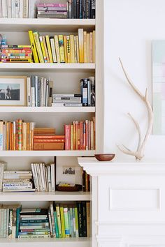 Stumped on styling your bookshelves? Here's a collection of beautiful bookshelf styling ideas to get you over the hump! Home Decor Styles, Home Decor Accessories, Cheap Home Decor, Bookshelf Organization, Leave In, Bookshelf Styling, Decorating Bookshelves, Home Libraries, Living Room Storage