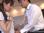 Lovely Asian Tsubasa Amami Loves Pleasing Colleague