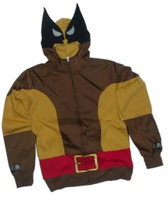 OFFICIAL LICENSED LOGAN X Men Full Zip Green Lightweight Hoodie Marvel Wolverine