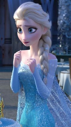 Elsa looks extremely worried.