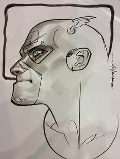 Captain America by Brian Stelfreeze Comic Art