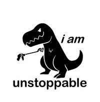 I Am Unstoppable T-rex Funny Vinyl Decal Sticker Bumper Car Truck Window (Buy 2 Get 1 Extra) Silhouette Projects, Silhouette Design, Silhouette Cameo Vinyl, Silhouette Png, Vinyl Shirts, Car Stickers, Funny Bumper Stickers, Funny Decals, Vinyl Projects