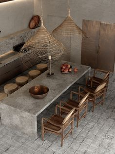Zen Interiors, Industrial Interiors, Wabi Sabi, African House, Casa Cook, Style Rustique, Concrete Kitchen, Natural Interior, Autocad