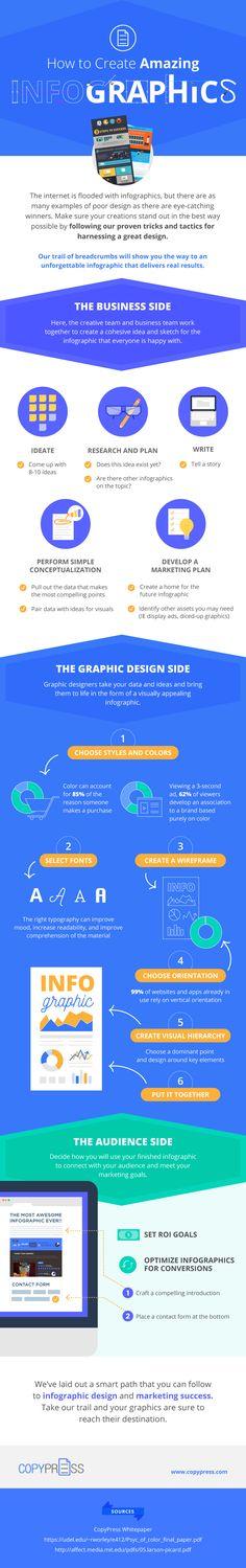 Cómo crear infografías asombrosas #infografia #infographic #design | TICs y Formación