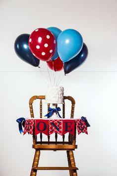 ONE HIGHCHAIR BANNER / Nautical 1st birthday / First birthday banner / One…