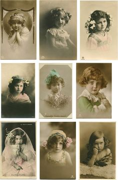 Vintage Tags, Vintage Labels, Vintage Ephemera, Vintage Girls, Vintage Paper, Vintage Postcards, Vintage Children Photos, Vintage Pictures, Free Collage