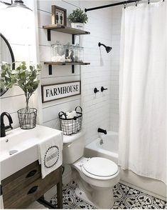 Farmhouse bathroom ideas - 50 Lovely Bathroom Decor Ideas With Farmhouse Style - hoomdesign Bad Inspiration, Bathroom Inspiration, Bathroom Renos, Bathroom Interior, Bathroom Remodeling, Dyi Bathroom, Remodel Bathroom, Bathroom Colors, Shiplap In Bathroom