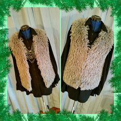Soft Faux Fur Vest Very soft faux fur vest by Vera Wang. Inside is quilted and there are three invisable hook closures in the front. Machine wash tumble dry. EUC Vera Wang Jackets & Coats Vests