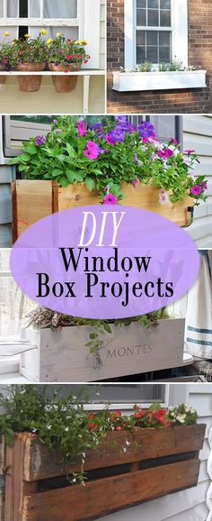 Nothing brightens up the exterior of your house faster and for less money than a window box! Building a planter box adds curb appeal and saves you money at the same time! Add color, charm and curb appeal with these DIY window box ideas and projects. Try these easy afternoon projects!