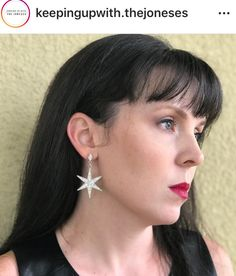 Be the star you are in these Lorren Bell earrings. Available at Keeping Up With The Joneses. Hair Ornaments, Costume Jewelry, Diamond Earrings, Stars, Fashion, Hair Decorations, Diamond Stud Earrings, Fashion Styles, Unique Jewelry