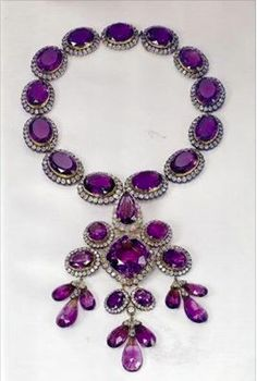 Amethyst necklace ~ Italian royal family