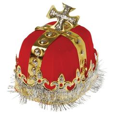Adult Size Royal Red King's Crown - Wholesale Hats, Bandanas an King Costume, Costume Hats, Carnival Supplies, Party Supplies, Wholesale Hats, Dollar Items, Party Supply Store, Royal King, Novelty Toys