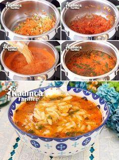 Barley Noodle Soup Recipe with Vegetables - - Sebzeli Arpa Şehriye Çorbası Tarifi Barley Noodle Soup Recipe with Vegetables Pasta Fagioli, Pollo Buffalo, Turkish Recipes, Ethnic Recipes, Soup Recipes, Healthy Recipes, Turkish Kitchen, Baked Yams, Noodle Soup