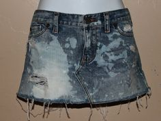Hollister distressed jean acid washed mini skirt by Foreverpeace, $14.00