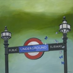 Shop for Lacey Shelton 'London Underground' Art Print. Get free delivery On EVERYTHING* Overstock - Your Online Children's Clothing Outlet Store! British Invasion, London Underground, Business Travel, Main Street, Presentation, Art Prints, Bff, Contemporary, Drawings