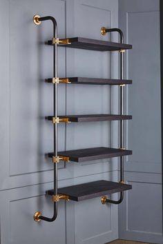 Oak Shelves, Glass Shelves, Floating Shelves, Copper Pipe Shelves, Industrial Pipe Shelves, Pipe Shelving, Iron Pipe Shelves, Brass Pipe, Wall Shelving