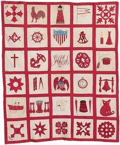 1869 Maine potholder quilt
