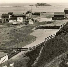 The town of San Pedro CA with Dead Man's Island in the background, circa 1873. Bulldozed in 1928, no longer there.