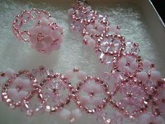 Pink bracelet with matching ring