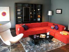 BoConcept Carmo sofa, Lecco wall system, and Imola chair