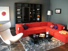 BoConcept Carmo sofa, Lecco wall system, and Imola chair