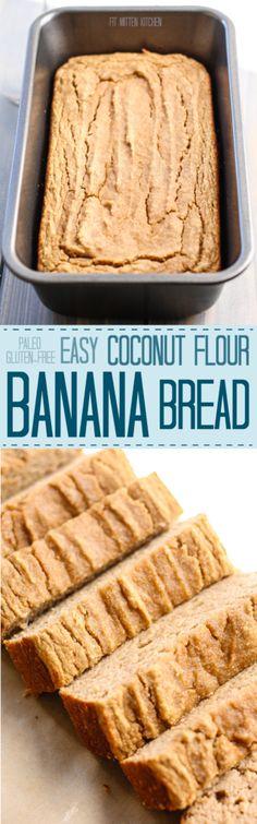 Easy Coconut Flour Banana Bread [paleo, gluten-free, dairy-free] • Fit Mitten Kitchen