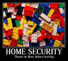 Home Security. Throw on floor before leaving..