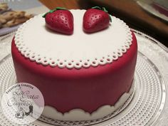 tarta fondant fresas