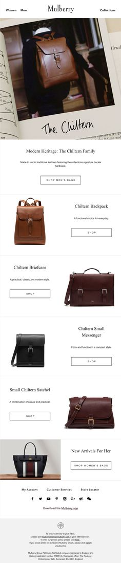 Beautiful email design from Mulberry Email Design 4cc9572a7c577