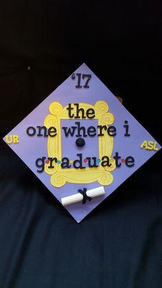 'Friends' theme graduation cap 'Friends' theme graduation cap Source by More from my site 37 Shocking DIY Graduation Caps (WTF?