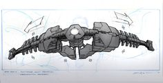 Iron Man 2 Concept Art by George Hull.