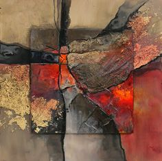 New London       This is another in my geologic abstract series. The inspiration for palette is my newly remodeled bathroom, which has so...