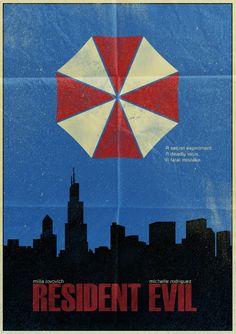 Simplistic Retro Resident Evil Poster