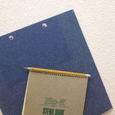 3 ring binder blue classic canvas linen old school supplies vintage