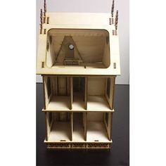 Jasmine Gothic Victorian 1:24 Scale Dollhouse Kit (With French doors)