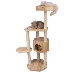 """68"""" Armarkat Solid Wood Cat Condo - $123.19 at Petsmart.com < 39""""(L)X31""""(W)X68""""(H); 60 lbs>"""