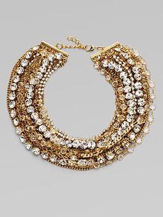 ABS by Allen Schwartz Jewelry Glass Bib Necklace
